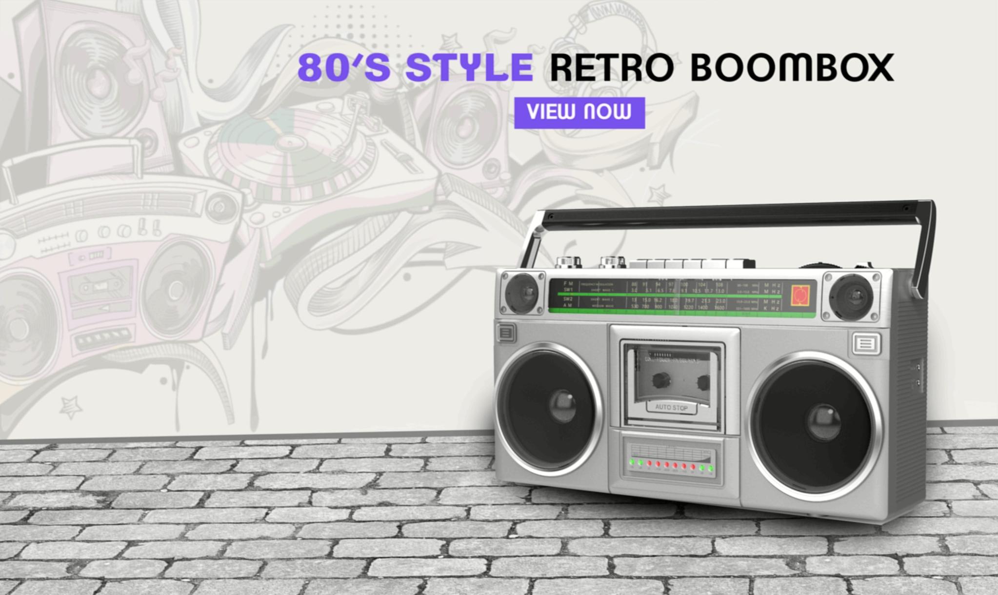 Riptunes Retro Boombox